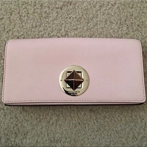 Baby pink Kate Spade Clutch